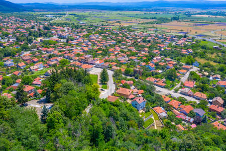 Aerial view of Bulgarian town Shipka Stock fotó