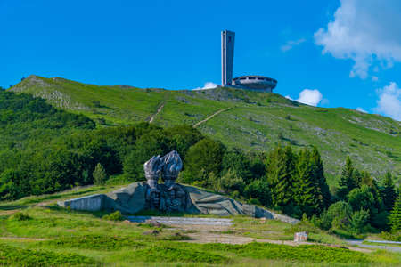 Monument House of the Bulgarian Communist Party at Buzludzha peak in Bulgaria