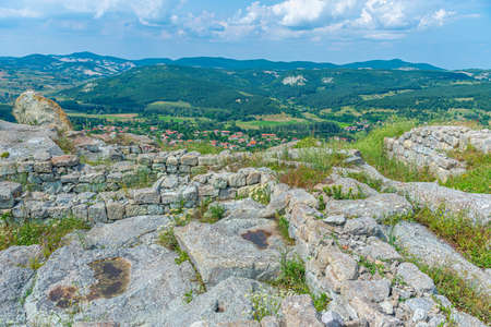 The ancient Thracian city of Perperikon located in Bulgaria Banque d'images