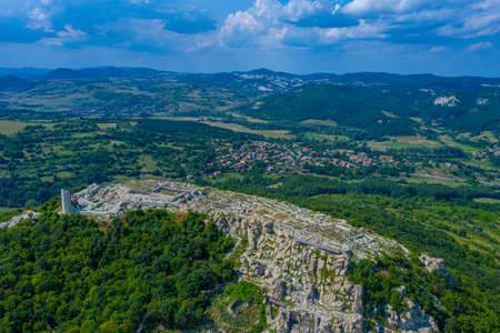 The ancient Thracian city of Perperikon located in Bulgaria