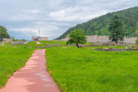 Ruins of Krakra fortress in Bulgarian town Pernik