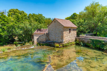 Water mill at Krka national park in Croatia
