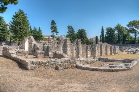 Manastarine of Roman ruins of ancient Salona near Split, Croatia