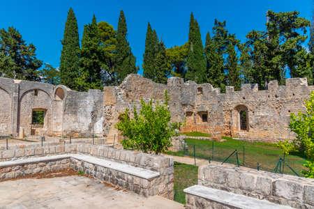 benedictine Monastery Of St Mary at Lokrum island in Croatia