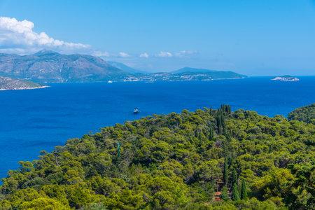 Aerial view of Lokrum island in Croatia Stock fotó