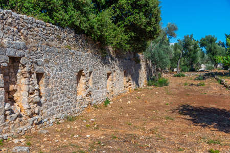 Ruins of lazaret, a quarantine hospital at Lokrum island in Croatia