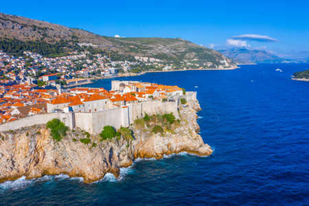 Fortification fo the old town in Dubrovnik, Croatia
