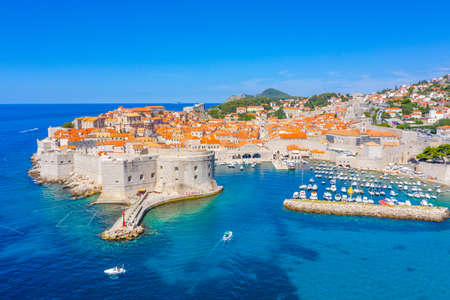 Aerial view of Croatian town Dubrovnik