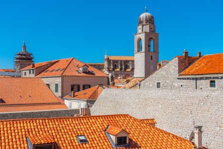 Cupolas and church towers in the old town of Dubrovnik, Croatia
