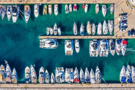 Marina in Korcula town in Croatia