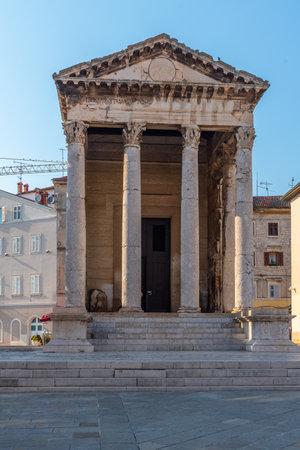 Temple of Augustus in Croatian town Pula