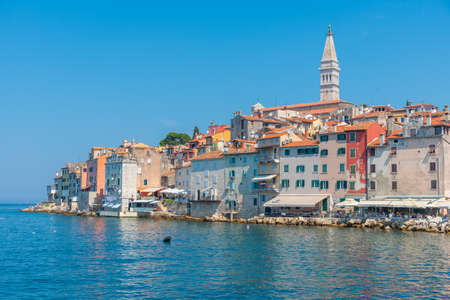 Croatian town Rovinj viewed during a sunny day