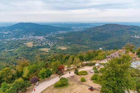 Panorama of Baden Baden in Germany