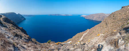 landscape of Santorini island with Oia town, Greece