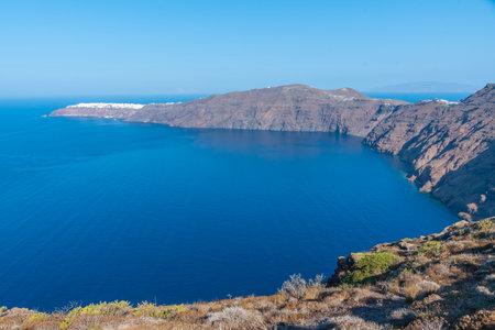 landscape of Santorini island with Oia town, Greece