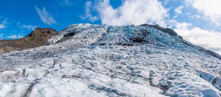Svínafellsjökull Glacier on Iceland during sunny day