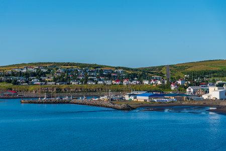 Panorama of Icelandic town Husavik