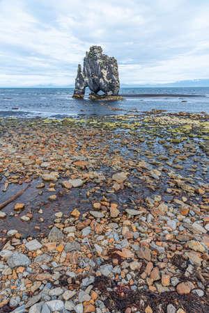 Hvitserkur basalt rocks on Iceland