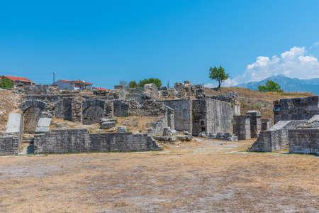 Roman amphitheater in ancient Salona near Split, Croatia Imagens