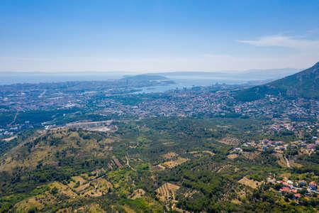 Aerial view of Croatian city Split