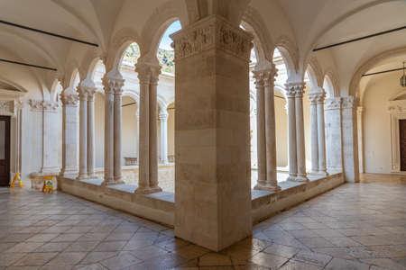 Inner courtyard of Rector's palace in Dubrovnik, Croatia