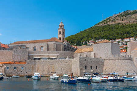 Rosary Church of the Dominican Monastery in Dubrovnik viewed from the old port, Croatia