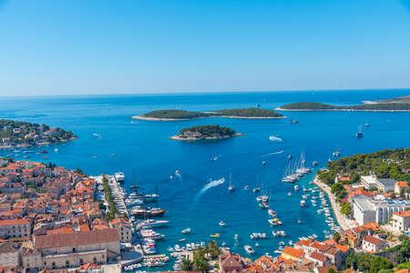 Aerial view of Hvar and Pakleni islands in Croatia Zdjęcie Seryjne