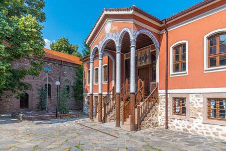 Historical museum (Written in cyrillic on the sign) in Perushtitsa, Bulgaria