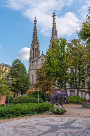 Evangelical church in center of Baden Baden in Germany