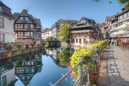 Strasbourg, France, September 21, 2020: Colorful houses at Petite France district in Strasbourg, Germany Editorial