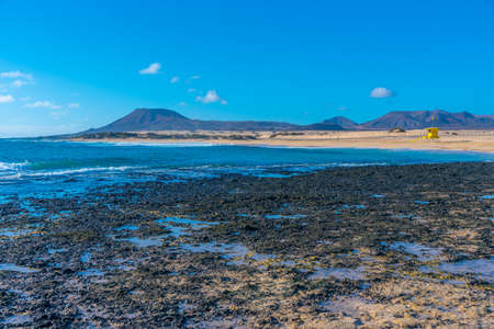 Playa del Moro at Corralejo sand dunes at Fuerteventura, Canary islands, Spain.