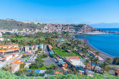Panoramic view of San Sebastian de la Gomera, Canary Islands, Spain. Stock Photo