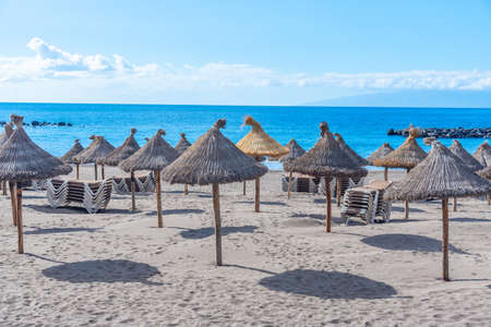 Playa del Camison at Tenerife, Canary islands, Spain. Stock Photo