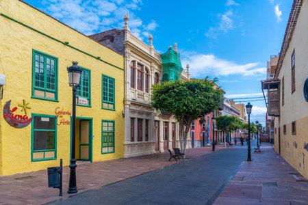 San Sebastian, Spain, January 14, 2021: View of a street at San Sebastian de la Gomera, Canary Islands, Spain.