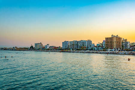 Sunset over Larnaca, Cyprus