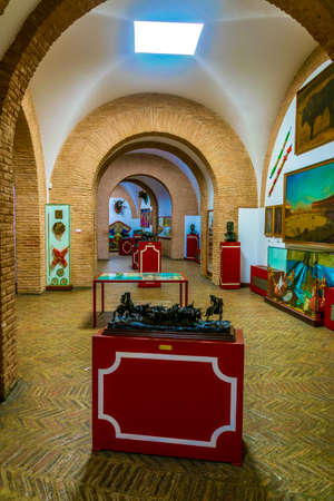 SEVILLA, SPAIN, JANUARY 7, 2016: interior of a bullfighting museum situated inside of the plaza de toros in the spanish city sevilla