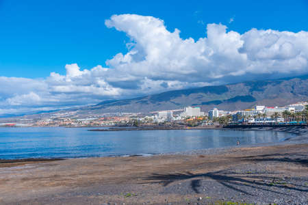 Playa de las americas at Tenerife, Canary islands, Spain.