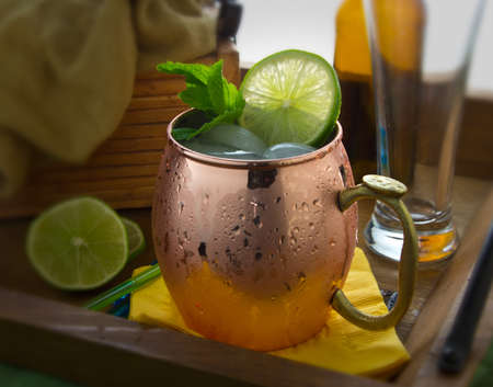 mule: A frosty Moscow Mule cocktail