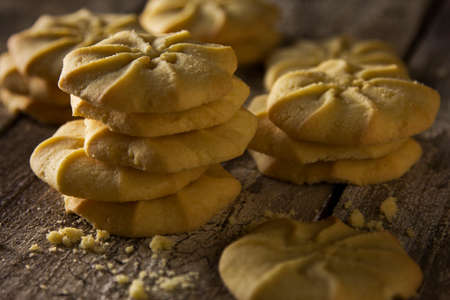 evocative: A stack of beautiful crispy cookies