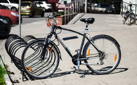 preferred: Bicycle Parking in front of the store, increasingly, this type of transport preferred by the residents of Kaliningrad