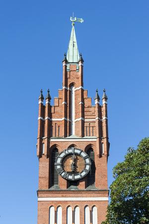 Spire of the Kaliningrad regional Philharmonic hall, the former Church of the Holy Family in the city of Kaliningrad (until 1946 Koenigsberg)