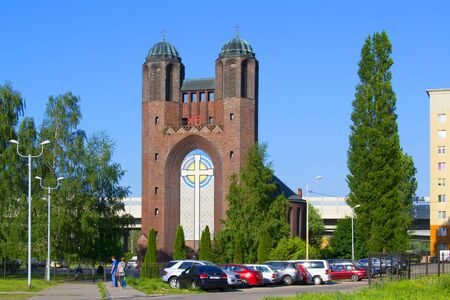 Holy cross Cathedral formerly-Church of the cross -Orthodox Church in Kaliningrad in the building of the former Lutheran-Evangelical Church. Located on October island