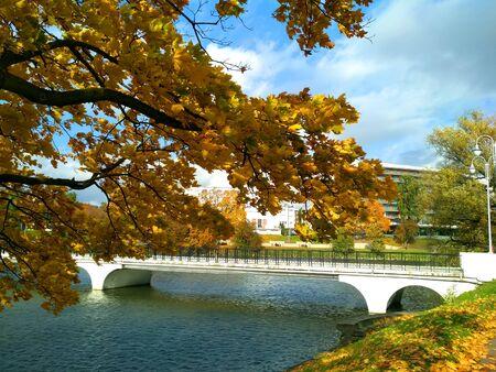 Kaliningrad Autumn - Bridge on the Lower Pond