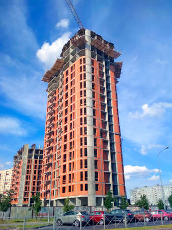 Construction of a high-rise building Banque d'images