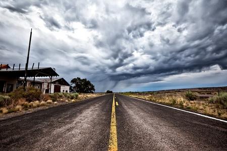 desert highway: Cloudy Road Ahead