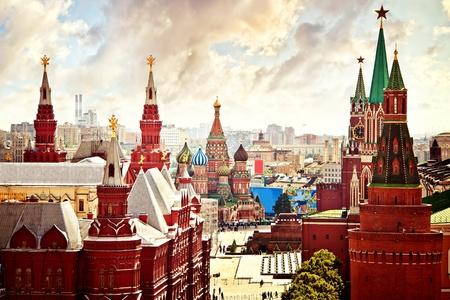 национальной достопримечательностью: Воздушная видом на Кремль