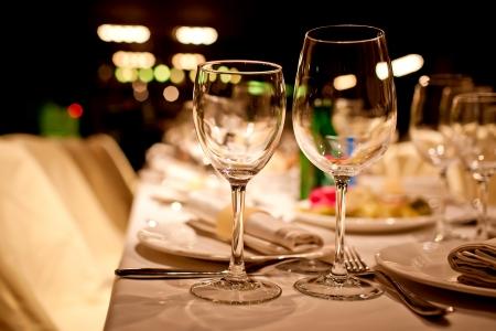 fine silver: Empty glasses