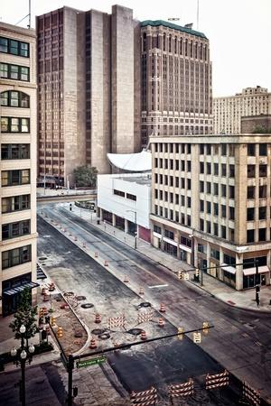 abandoned city: Downtown Detroit
