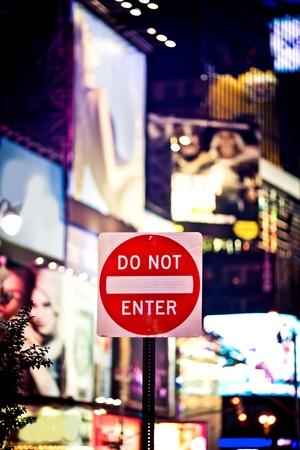 do not enter: Do not enter sign