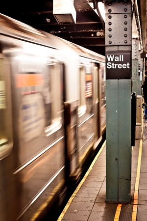 nyc: New York subway, Wall street station